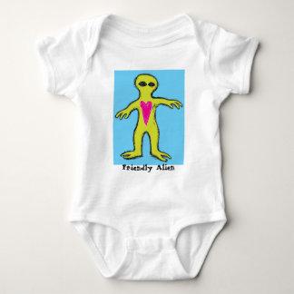 """Friendly Alien"" Valentine Alien Baby Bodysuit"