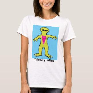 """Friendly Alien"" Valentine Alien T-Shirt"
