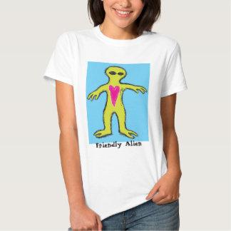 """""""Friendly Alien"""" Valentine Alien Tee Shirt"""