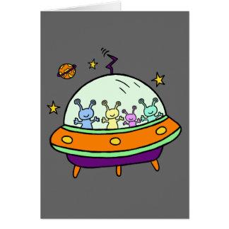 Friendly Aliens Greeting Card