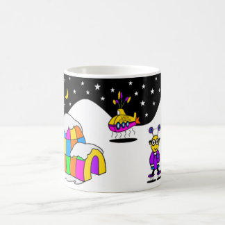 """Friendly Aliens"" Hot Chocolate Mug"