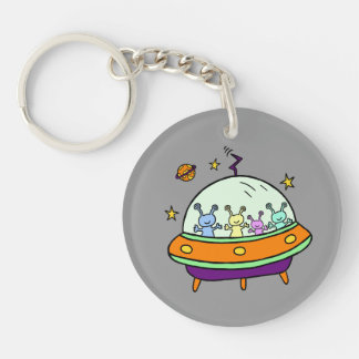 Friendly Aliens Keychain