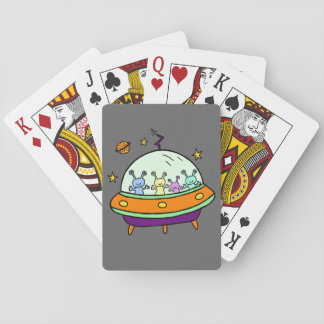 Friendly Aliens Playing Cards