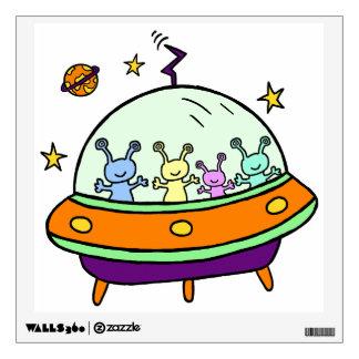 Friendly Aliens Room Sticker