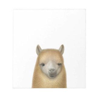Friendly Alpaca Face Notepad