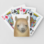 Friendly Alpaca Face Playing Cards