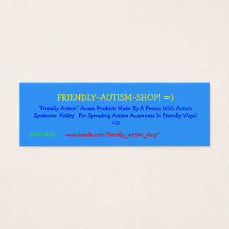 Friendly~Autism~Shop! =) Advertising Cards