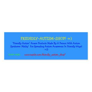 ¡Friendly~Autism~Shop! =) tarjetas de publicidad Tarjetas De Visita