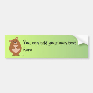 Friendly Bear Bumper Sticker