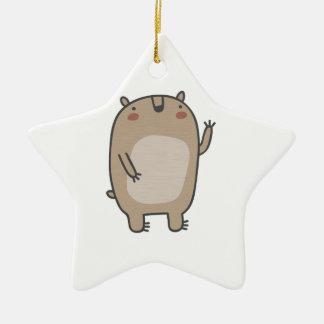 Friendly Bear Ceramic Ornament