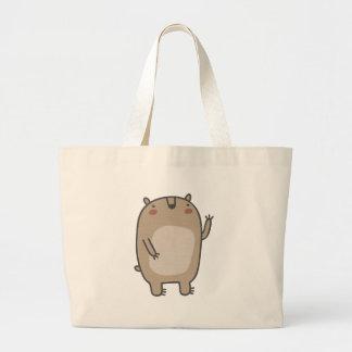 Friendly Bear Large Tote Bag