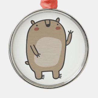 Friendly Bear Metal Ornament