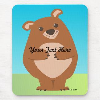 Friendly Bear Mouse Pad