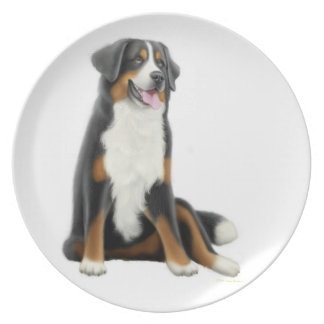 Friendly Bernese Mountain Dog Plate