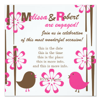 Friendly Birds in Cherry Chocolate Card
