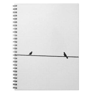 Friendly birds spiral notebook