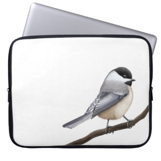 Friendly Black Capped Chickadee Electronics Bag Laptop Computer Sleeves