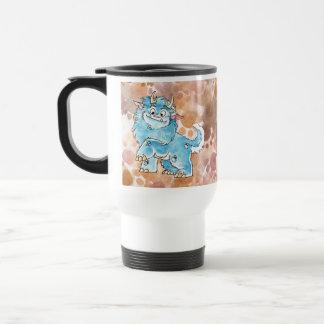 Friendly Blue Monster Travel Mug