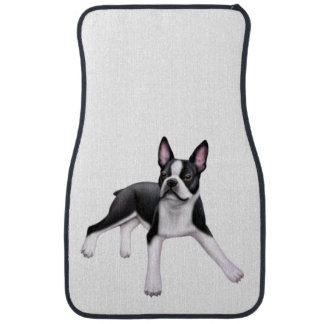 Friendly Boston Terrier Car Floor Mats
