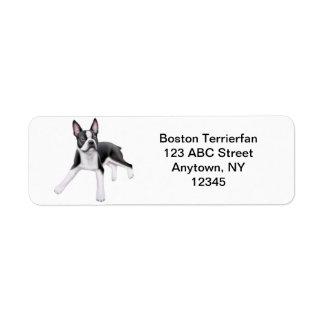 Friendly Boston Terrier Customizable Label