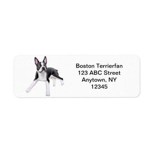 Friendly Boston Terrier Customizable Return Address Label