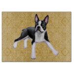 Friendly Boston Terrier Dog Cutting Board