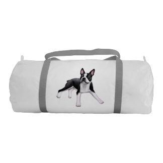 Friendly Boston Terrier Dog Duffel Bag