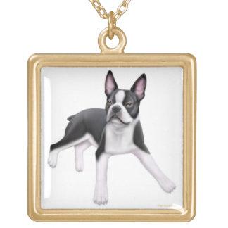 Friendly Boston Terrier Dog Necklace
