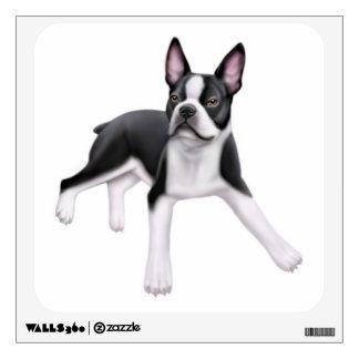 Friendly Boston Terrier Dog Wall Decal