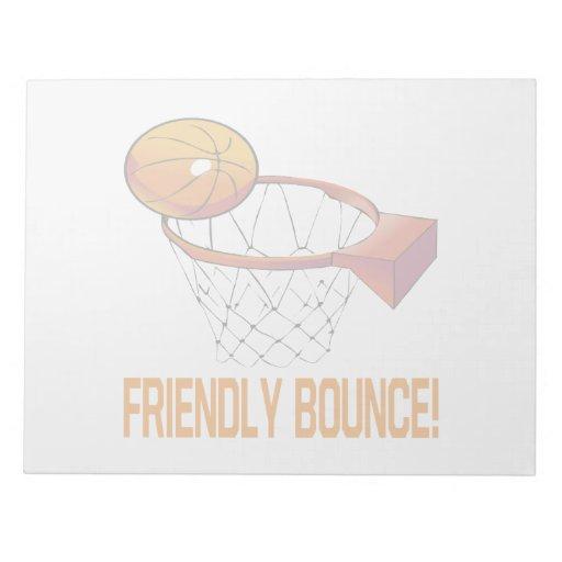 Friendly Bounce Memo Pad