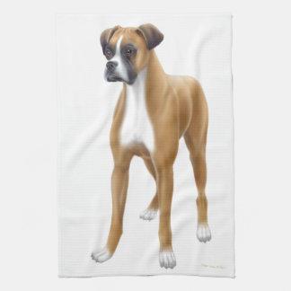 Friendly Boxer Dog Kitchen Towel