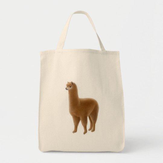 Friendly Brown Alpaca Tote Bag