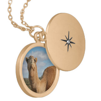 FRIENDLY CAMEL LOCKET NECKLACE
