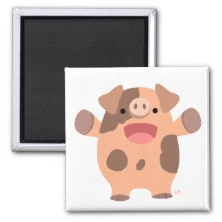 Friendly Cartoon Pig magnet
