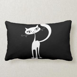 Friendly Cat Throw Pillow