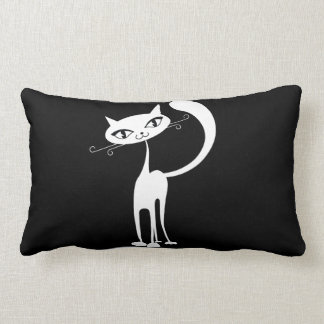 Friendly Cat Throw Pillow