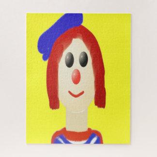 Friendly clown jigsaw puzzle