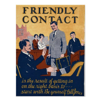 Friendly Contact Poster