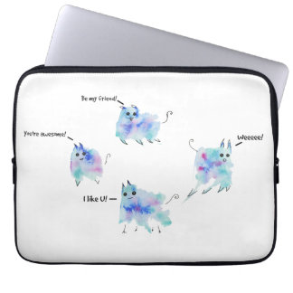 Friendly creatures laptop sleeve