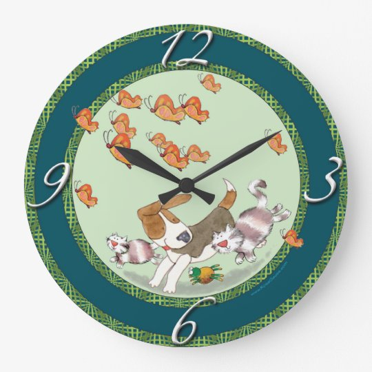 Friendly Critters Large Clock