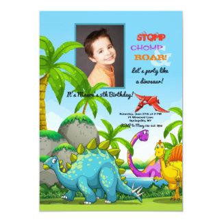 Friendly Dinosaurs Photo Invitation