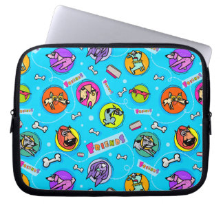 Friendly Dog Pattern Laptop Sleeve