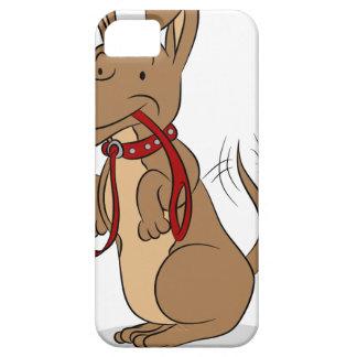 Friendly Dog With Leash Cartoon iPhone SE/5/5s Case