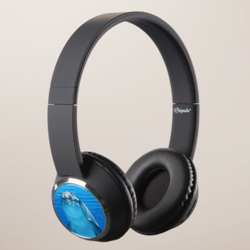 Friendly Dolphin Photo Headphones