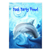 Friendly Dolphin Playing in the Ocean Invitation