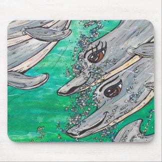 Friendly Dolphin Pod Mousepad