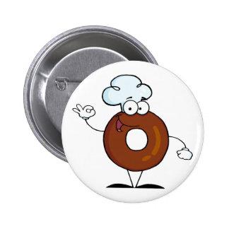 Friendly Donut Cartoon Character Pins