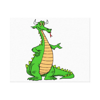 friendly dragon hand out.png canvas print