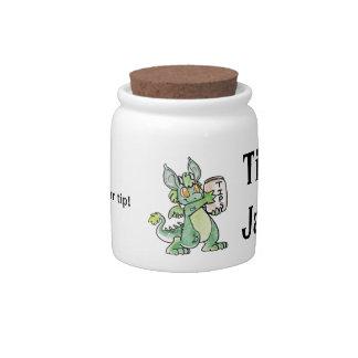 Friendly Dragon Tip Jar Candy Dishes