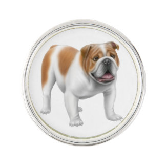 Friendly English Bulldog Lapel Pin